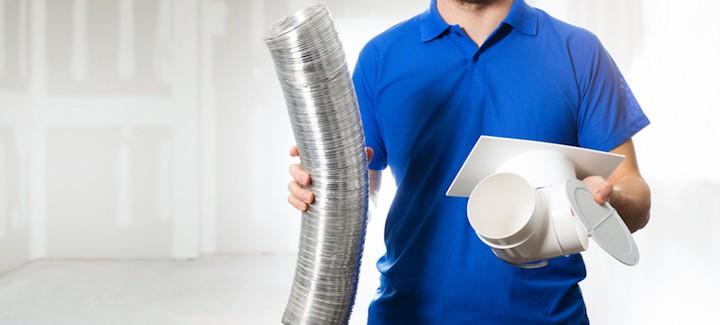 Ventilatiesysteem plaatsen om schimmel in huis te voorkomen