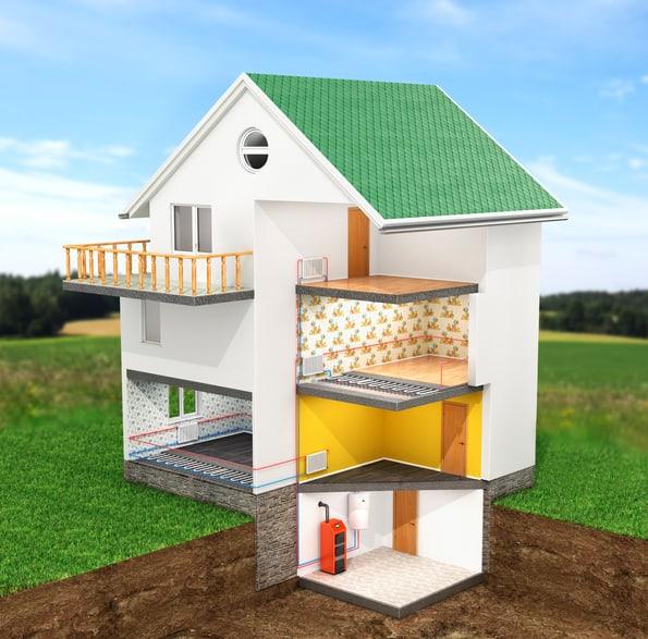 Werking warmtepomp voor verwarming en ventilatie